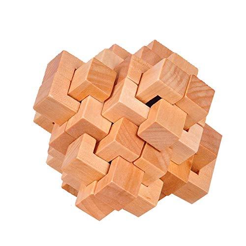 Rompecabezas Madera Juego Kongming Bloqueo Cubo Misterioso
