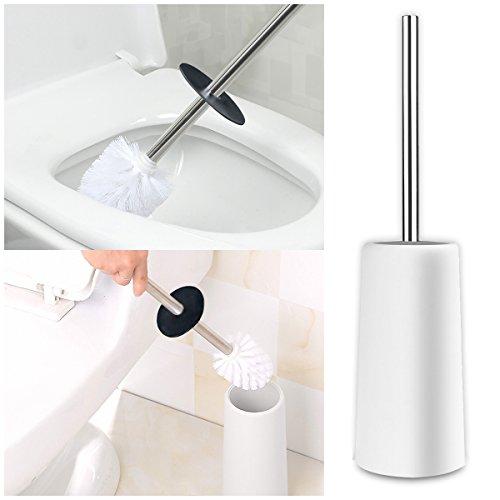 WC-Schüssel Bürste, bligli WC-Bürste mit Halter, Edelstahl Griff