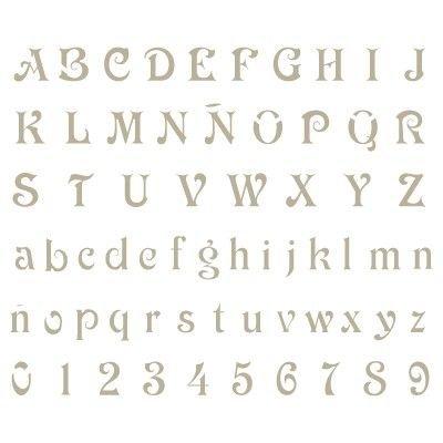 Stencil mini deco alfabeto 008. misure: dimensioni esterne dello stencil: 12 x 12 (cm) misure design: 0,9 x 0,8 (cm) misure della m maiuscolo: 0,8 x 0,5 (cm)