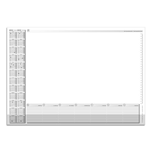 Schreibtischunterlage mit 2-Jahres-Kalender und Kantenschutz I dv_028 I DIN A2 I 40 Blatt I aus...
