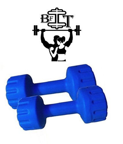 BFIT 1KG Home Gym set 1KG x 2 dumbbell Blue  available at amazon for Rs.190