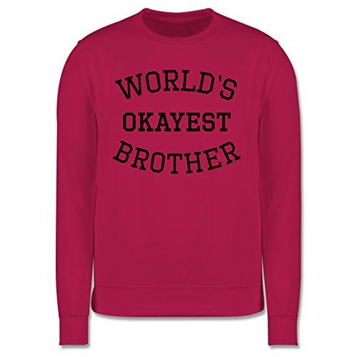 Bruder & Onkel - World's okayest brother - Herren Premium Pullover Fuchsia