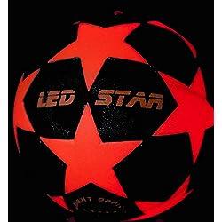 ¡pelota de futbol con luz NIGHT KICK LED STAR - el regalo de final de fútbol para jóvenes y adultos! Con esta bola de Campeones es su jefe!