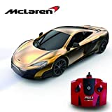 McLaren 675LT Remote Controlled Car for Kids with Working Lights in Gold, Electric