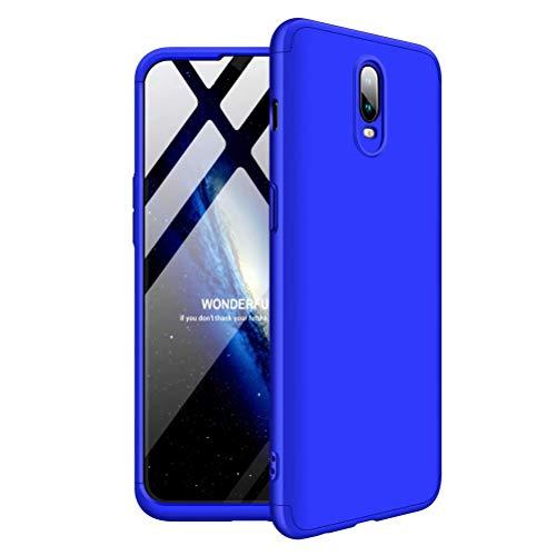 MISSDU reemplazo para Funda One Plus 6T Thin Fit 360 Carcasa Exact Slim de protección Completa y Protector de Pantalla de Vidrio Templado, Azul
