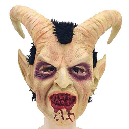 QNFNB Terror Luzifer Maske Halloween Requisiten Maskerade-Spielzeug (Luzifer Kostüm Männer)