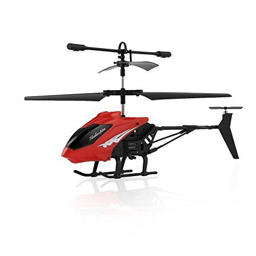 FPVRC XY803 3.5CH Elicottero Telecomandato Piccolo per Bambini con Gyro & LED - RTF (Rosso)