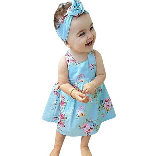 JERFER Prinzessin Blumenkleid Kleinkind Kinder Baby Mädchen Sleeveless -