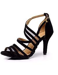 f7b7298b4b3fd Syrads Chaussures de Danse Latine pour Femmes Chaussures de Danse Tango  Valse Samba Salsa Sandale Talon