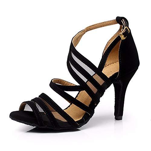 Syrads Zapatos de Baile Latino para Mujer Zapatos de Tango Salsa Samba Baile de Salón Baile Interior