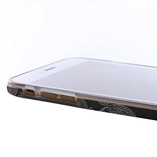 "RE:CRON® iPhone 6 Plus (5,5"") Design Hülle Cover Case – Retro 1930 Muster Totenköpfe"
