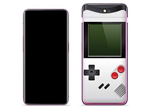 etuo Handyhülle für Oppo Find X - Hülle Fantastic Case - Weißes Game Boy - Hülle Schutzhülle Etui Case Cover Tasche für Handy