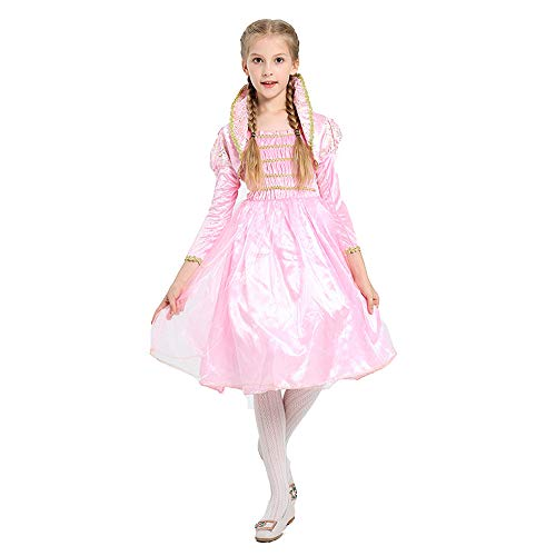 BaronHong Mädchen Cartoon Fancy Dance Kostüm Cosplay Prinzessin Lotus Fairy Dress Up (pink, 120cm)