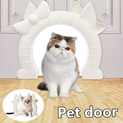 Mysida Cat flap door Porta for Animali Domestici for Interni, Fai-da-Te Adatta alla Maggior Parte delle Dimensioni delle Porte Standard, for Gatti Fino a 17 cm