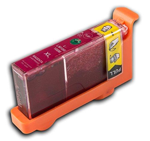 Preisvergleich Produktbild 1 Lexmark L-100/L-108 XL Magenta/Rot (passt auch für L105/LM105) kompatible Tintenpatrone von 'The Ink Squid' - 1 x Magenta/Rot XL (19ml)