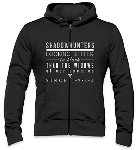 The Mortal Instruments Shadowhunters Mens Zipper Hoodie Large