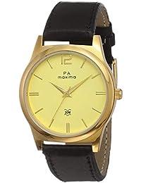 Maxima Analog Champagne Dial Men's Watch-60030LMGY