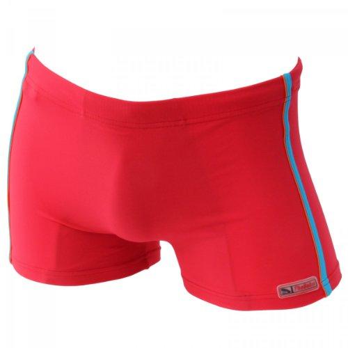 Herren Badehose Retro Badeshorts Größen M L XL 2XL ** viele Farb-Varianten ** 865 dunkelblau/rot