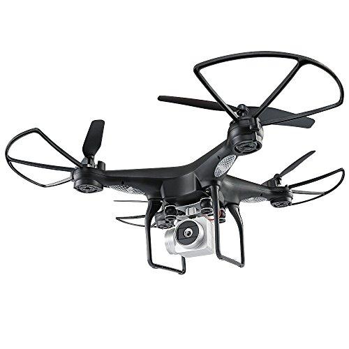 AmaSells Professionelle Intelligente JJRC H68 Weitwinkelobjektiv 720P HD Kamera Quadcopter RC Drohne WiFi FPV + 1800 mAh Batterie Spielzeug Geschenk Fernsteuerungs Flugzeug (Schwarz)