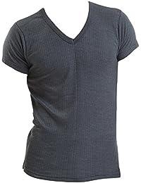 3 lots de T-Shirts blancs de dessous pour hommes thermolactiles à manches courtes et encolure en V, de tailles variées