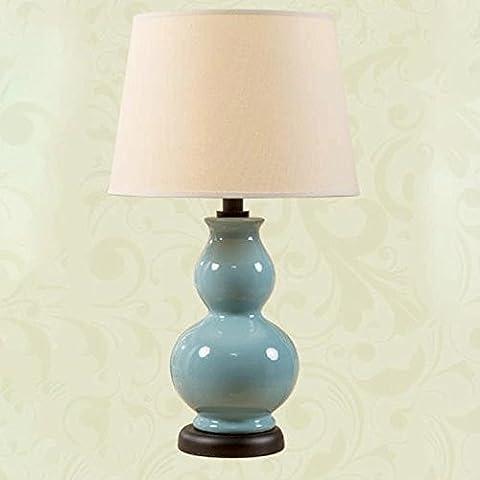 Gewebe-keramische Tabellen-Lampe / modernes amerikanisches Land-keramischer Tabellen-Lampen-Kürbis-warme chinesische Wohnzimmer-Bett-Nachttischlampe-Studie-Lampen-dekoratives