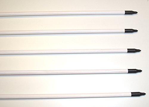 Holzpfeile Pfeile aus Kiefernholz weiß mit Naturfedern 5/16 bis 30 – 40 lbs - 3
