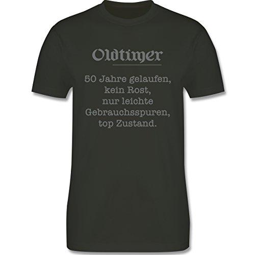 Geburtstag - 50 Jahre Oldtimer Fun Geschenk - Herren Premium T-Shirt Army Grün