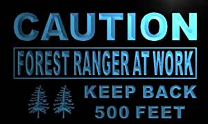 ADV PRO m567-b Caution Forest Ranger At Work Neon Light Sign Barlicht Neonlicht Lichtwerbung