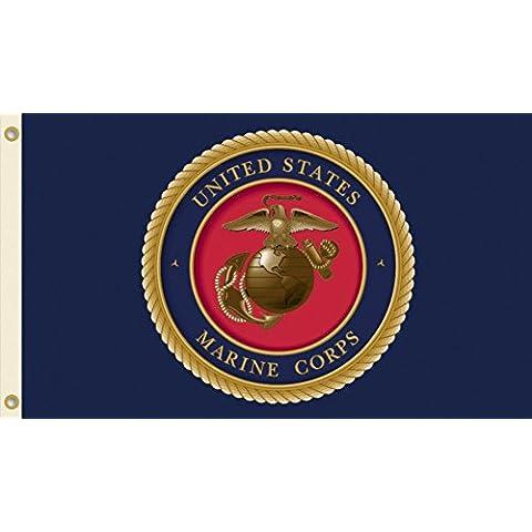 BSI prodotti 45202 0,91 Meters. X. U.S. 1,52 Meters-Bandiera del corpo dei Marine con occhielli