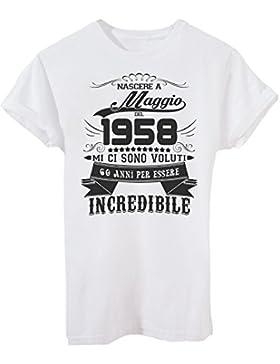 T-Shirt Compleanno Nato A Maggio del 1958-60 Anni per Essere Incredibile - Eventi
