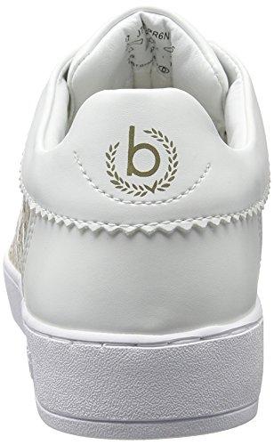 Bugatti J7608pr6n, Scarpe da Ginnastica Basse Donna Bianco (Weiss / Gold 235)