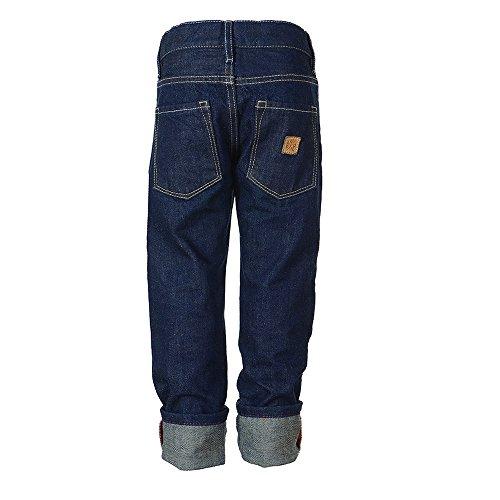Rascal Jungen Jeans Hose aus 100% Bio-Baumwolle, blau  raw denim,...