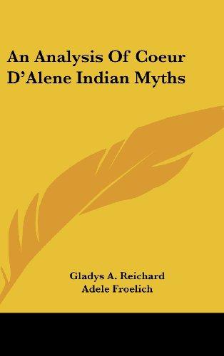 An Analysis of Coeur D'Alene Indian Myths