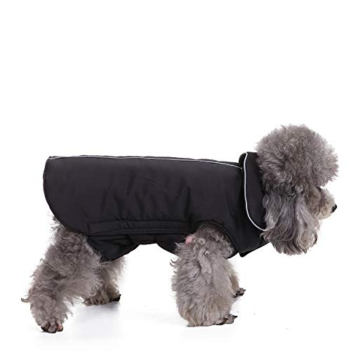 Amphia - Haustier Hund elastische Jacke Mantel Kleidung,Haustier Hund Katze Welpen Winter warme Kleidung Kostüm Jacke Mantel Kleid(Schwarz,XS)