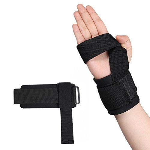 WINOMO Gym Training Bandagen Fitness Straps Sport Handgelenk Unterstützung Brace Schützende Handgelenk Palm Guard Bandage Band (Schwarz)