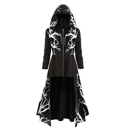 serliyDamen Vintage Gothic Mantel Kostüme Punk Hooded