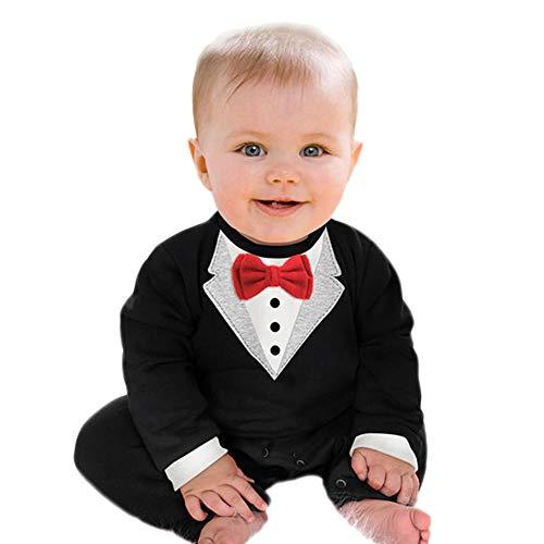 Knowin-baby body 100% nagelneu, hohe Qualität Baby Langarm Herr Fliege Bogen Mantel Strampler Overall Jungen Outfits Sets Jumpsuit Fliege Romper Gentleman Kleidung (Qualität Hohe Batman-kostüm)