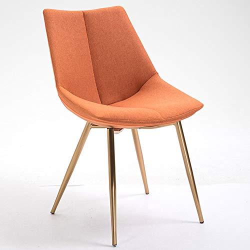 ZHENHAO Retro Design Stühle Aus Massivem Metall Geeignet Ergonomischer Komfort Design Für Das Esszimmer Küche Wohnzimmer Schlafzimmer Für Küche, Büro, Lounge, Konferenzzimmer Etc,Orange -