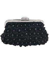 0f99a413f ZAK168 - Bolso de Mano para Mujer, con Perlas de imitación, Bordado, diseño