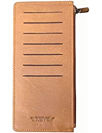 ABYS Genuine Leather Tan Unisex Credit Card Case||Card Holder||Visiting Card Case With 14 Card Slots
