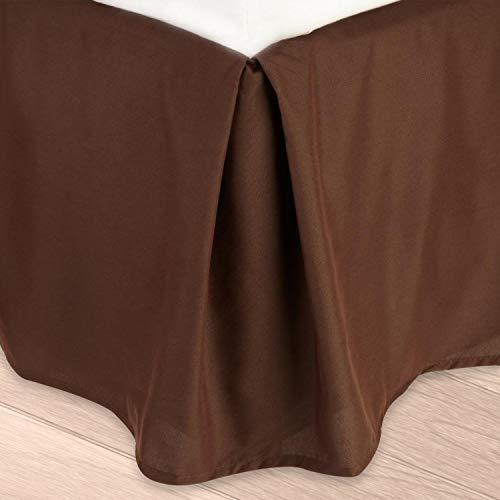 Clara Clark eine Premier 1800Kollektion massiv Bett Rock Staub Rüsche, Queen, Schokolade Braun - Bett Queen-schokolade
