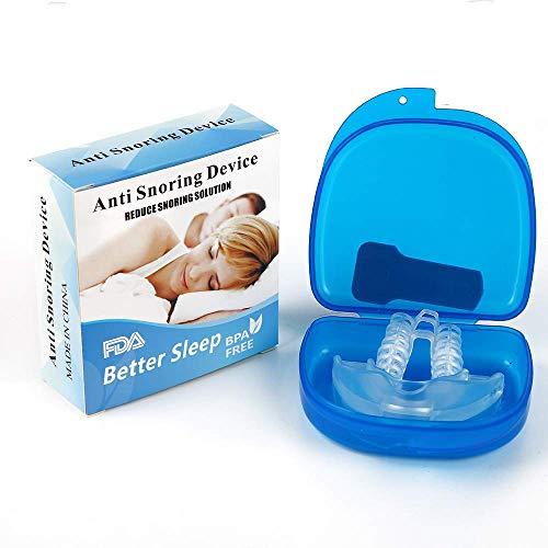 Schnarchstopper, Vegena Anti Schnarchen Geräte Schnarchschiene Nasenspreizer Aufbissschiene für gegen das Schnarchen und verbessertes Atmen BPA-Frei Aus Medizinischen Kunststoff Hergestellt