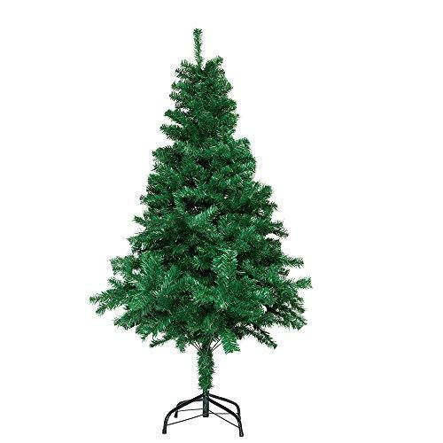 Aufun Künstlich Weihnachtsbaum 210cm Künstlicher Weinachts Baum Deko Tannenbaum Grün PVC mit Metallständer ca. 870 Spitzen Lena Weihnachtsdeko
