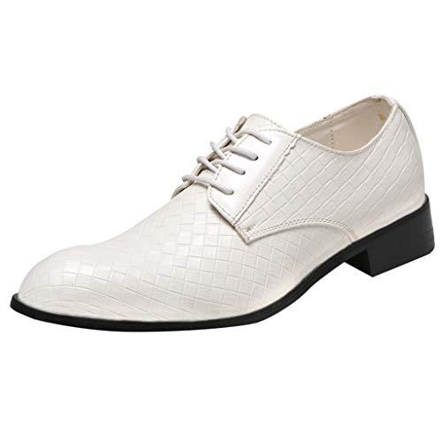 Floweworld Herren Formal Dress Schuhe Casual England Oxfords Schuhe Business Schuhe Leder Hochzeitsschuhe Neckholder Formale
