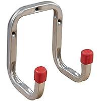 Gerätehalter Gerätehaken DUO Doppel-Wandhaken 90 mm Schraubhaken   Haken Stahl verzinkt   Allzweckhaken für Keller - Garage - Ordnung   Baubeschläge von GedoTec®