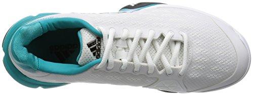 adidas Barricade 2016, Chaussures de Tennis Homme, Multicolore Blanc / noir / vert (blanc Footwear / noir essentiel / vert impact)