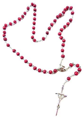 Duftenden Rosenkranz (Rosenkranz Halskette mit Perlen aus Holz rot)