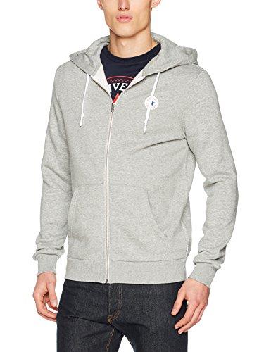 Converse Herren Sportkapuzenpullover Core Full Zip Hoodie, Grau (Vintage Grey Heather 035), Large (Fit-full-zip-jacke)