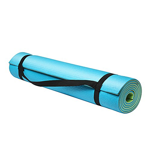 Fitkit FKYM02 Dual Layer Yoga Mat, 6mm (Blue/Green)