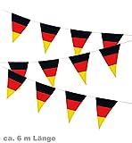 Wimpelgirlande Wimpel Girlande Fan Band Deutschland FAN - Artikel ca. 6Meter